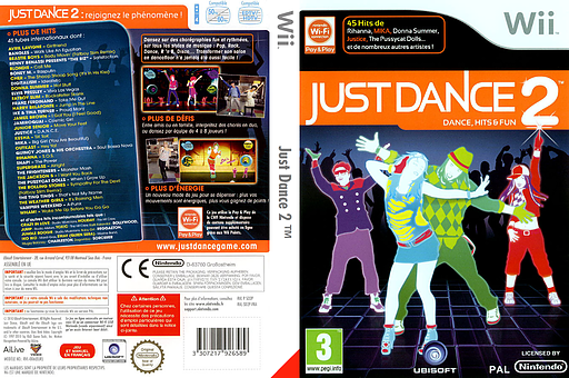 Just Dance 2 pochette Wii (SD2P41)