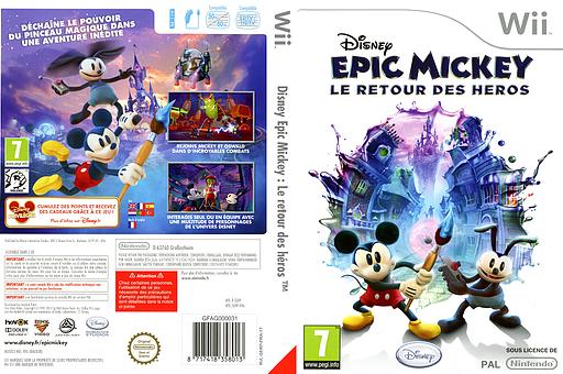 Disney Epic Mickey:Le retour des héros pochette Wii (SERP4Q)