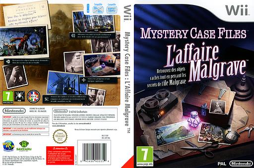 Mystery Case Files :L'Affaire Malgrave pochette Wii (SFIP01)
