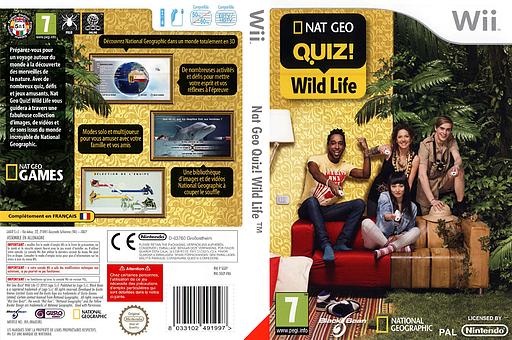 Nat Geo Quiz! Wild Life pochette Wii (SGEPLG)