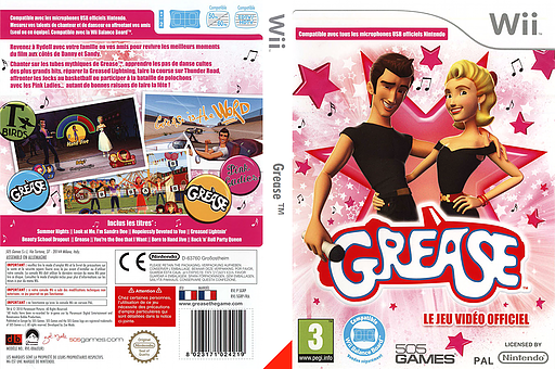Grease pochette Wii (SGRPGT)