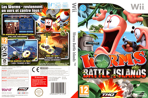 Worms Battle Islands pochette Wii (SILP78)