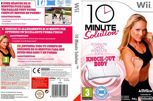 10 Minute Solution pochette Wii (SM2P52)