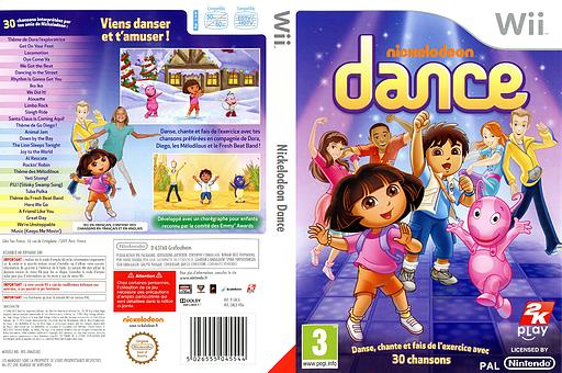 Nickelodeon Dance pochette Wii (SNLX54)