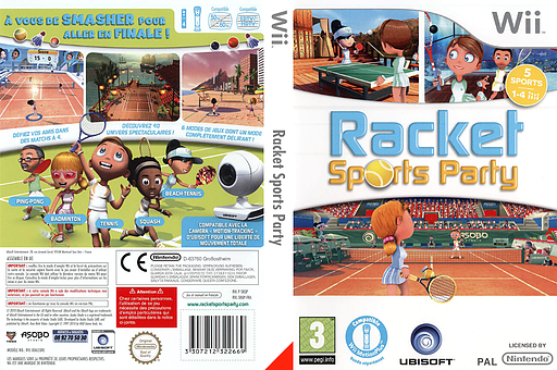 Racket Sports Party pochette Wii (SRQP41)