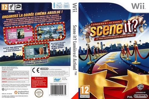 Scene it? Lumières! Action! pochette Wii (SSCIWR)