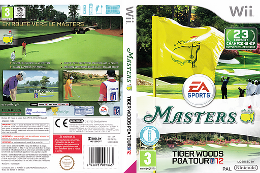 Tiger Woods PGA Tour 12 : The Masters pochette Wii (STXP69)