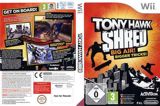 Tony Hawk: Shred pochette Wii (STYP52)