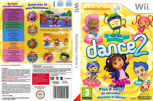 Nickelodeon Dance 2 pochette Wii (SU2X54)