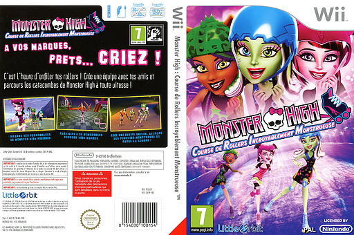 Monster High:Course de Rollers Incroyablement Monstrueuse pochette Wii (SU5PVZ)