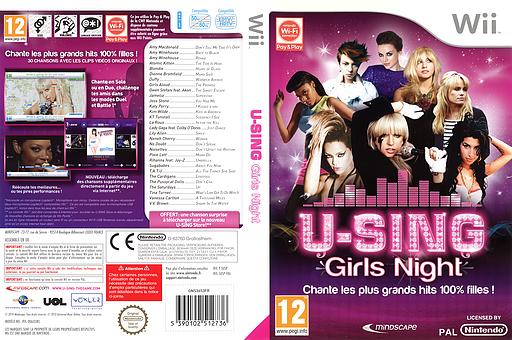 U-Sing Girls Night pochette Wii (SUSPMR)