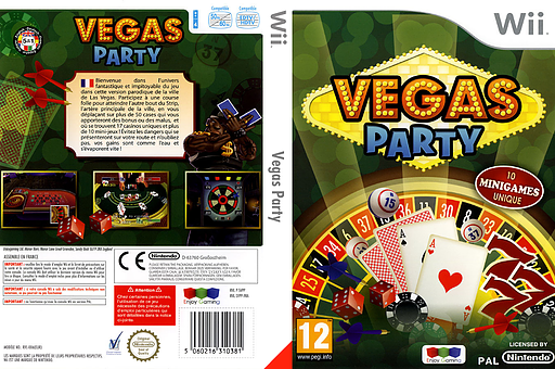 Vegas Party pochette Wii (SVPPNJ)