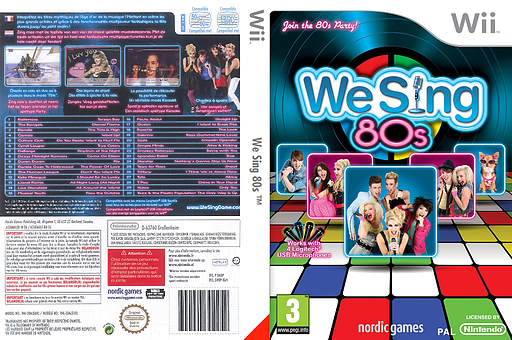 We Sing 80s pochette Wii (SW8PNG)