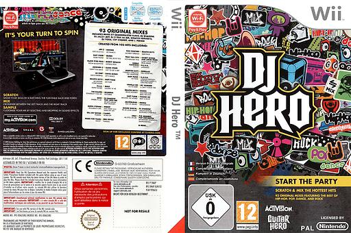 DJ Hero pochette Wii (SWAP52)