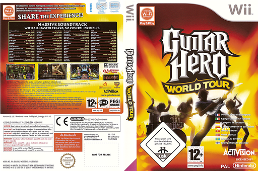 Guitar Hero : World Tour pochette Wii (SXAP52)