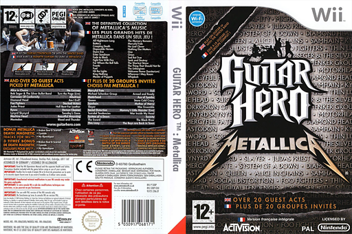 Guitar Hero:Metallica pochette Wii (SXBP52)