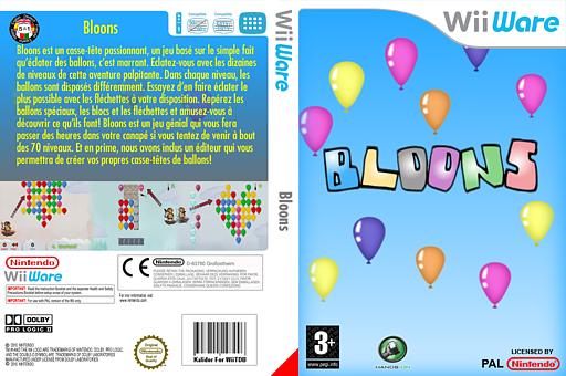 Bloons pochette WiiWare (W2LP)