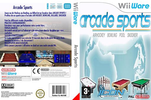 Arcade Sports:Air Hockey, Bowling, Pool, Snooker pochette WiiWare (W4AP)