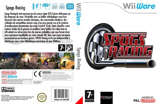 SPOGS Racing pochette WiiWare (WBVP)