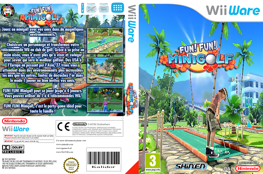 Fun! Fun! Minigolf pochette WiiWare (WFFP)