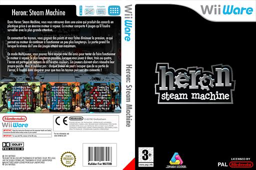 Heron : Steam Machine pochette WiiWare (WHRP)