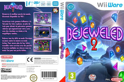 Bejeweled 2 pochette WiiWare (WJWP)