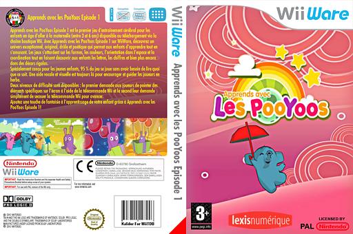 Apprends avec les PooYoos:Episode 1 pochette WiiWare (WLEP)