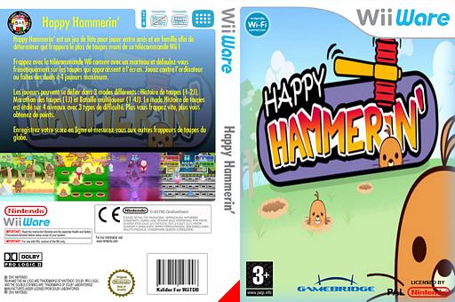 Happy Hammerin' pochette WiiWare (WM9P)