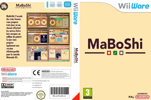 MaBoShi:l'arcade des trois formes pochette WiiWare (WMBP)