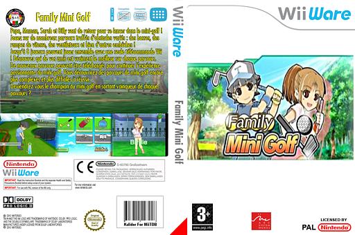 Family Mini Golf pochette WiiWare (WOGP)