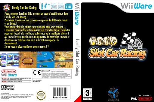 Family Slot Car Racing pochette WiiWare (WOSP)
