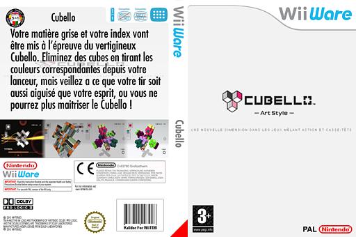 Art Style:CUBELLO pochette WiiWare (WPRP)