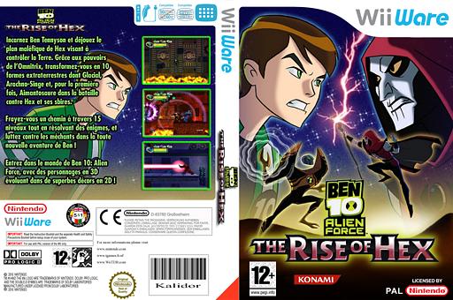 Ben 10 Alien Force  The Rise of Hex pochette WiiWare (WXBP)