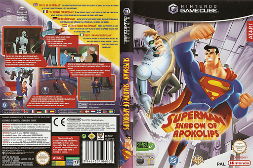 Superman: Shadow of Apokolips GameCube cover (GSUP70)