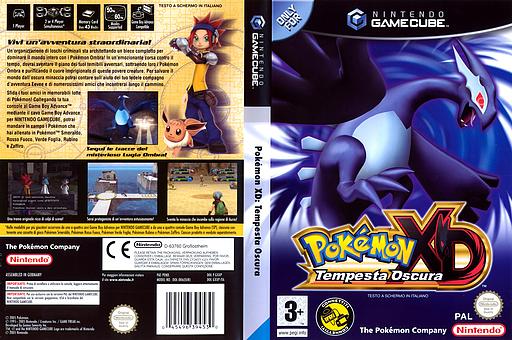 Pokémon XD: Tempesta Oscura GameCube cover (GXXP01)
