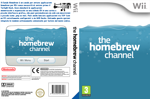 Canale Homebrew Channel cover (OHBC)