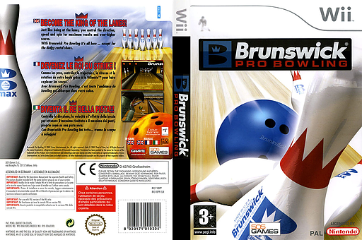 Brunswick Pro Bowling Wii cover (RBPPGT)