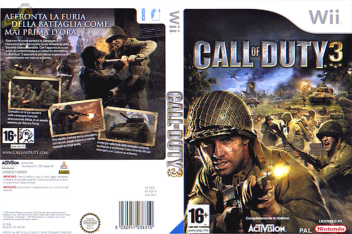 Call of Duty 3 Wii cover (RCDP52)