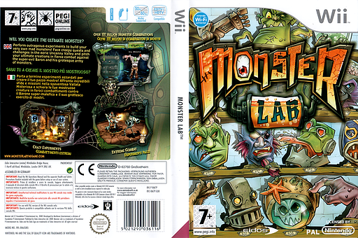 Monster Lab Wii cover (RM7P4F)