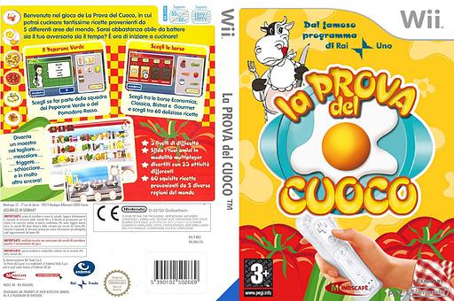 La Prova del Cuoco Wii cover (RRJIMR)