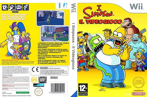 I Simpson: Il Videogioco Wii cover (RSNX69)