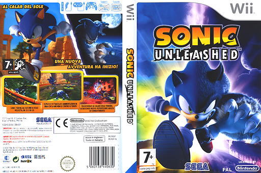 Sonic Unleashed Wii cover (RSVP8P)