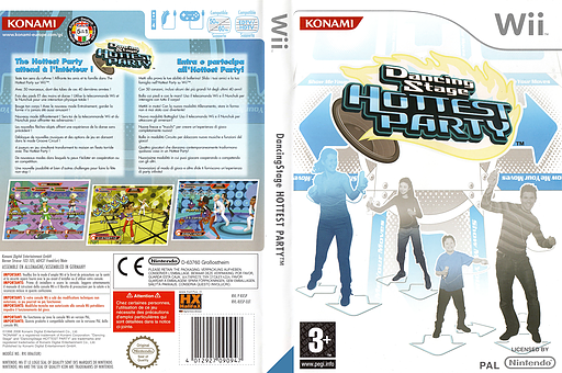 Dancing Stage Hottest Party Wii cover (RXSPA4)