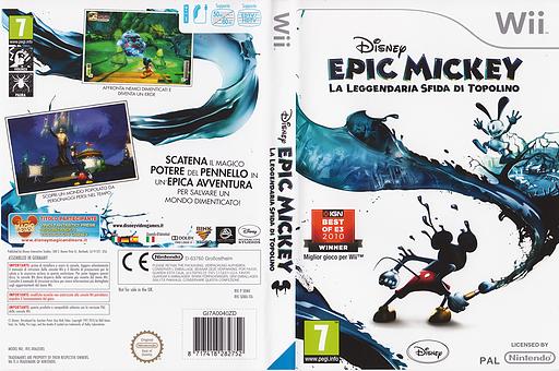 Disney Epic Mickey:La Leggendaria Sfida di Topolino Wii cover (SEMX4Q)
