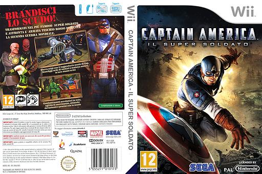 Captain America:Il Super Soldato Wii cover (SFQP8P)