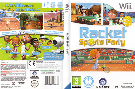 Racket Sports Party Wii cover (SRQP41)