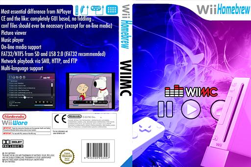 WiiMC Homebrew cover (WIMC)