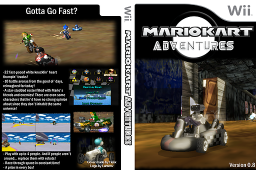 Mario Kart Adventures v0.8 CUSTOM cover (RMCJA1)