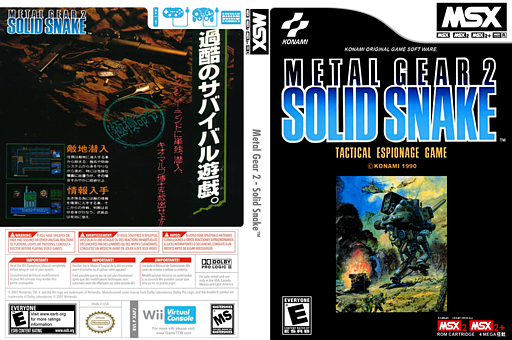 Metal Gear 2: Solid Snake VC-MSX cover (XAPJ)