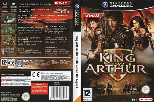 King Arthur GameCube cover (GKHPA4)